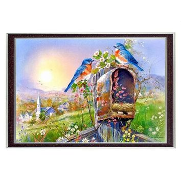 Needlework  Home decor 14CT unprinted embroidery DMC Quality Counted Cross Stitch Kit Oil painting Birds Garden