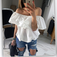 Off Shoulder Ruffled Top