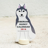 2016 Husky Dog Desk Calendar