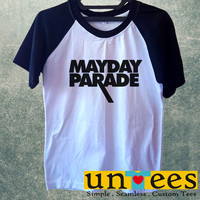Mayday Parade Logo Short Raglan Sleeves T-shirt