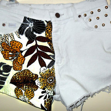 Vintage LEE Safari High Waist Studded Shorts by CheetahnotCougar