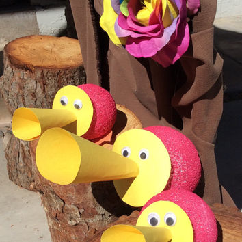 Alice in Wonderland Party Decorations Trio of Horn Ducks Tulgey Woods