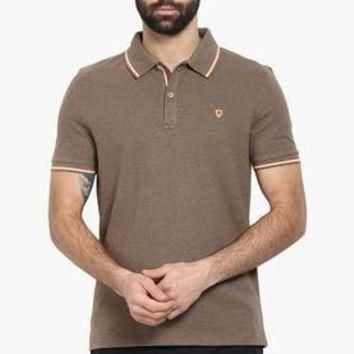 Mens Solid Slim Fit Polo T-Shirt | T-shirts | Clothing | Men | Shoppers Stop