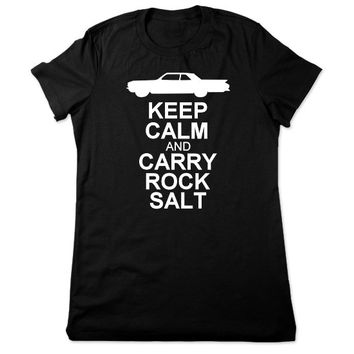 Funny T Shirt, Keep Calm Carry Rock Salt, Funny Tshirt, Geeky Tshirt, Horror Tee, Geek T Shirt, Geeky T Shirt, Ladies Women Plus Size