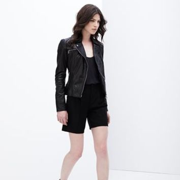 Teegan Lamb Leather Biker | Danier Official Store