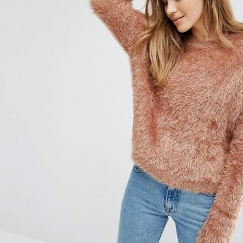 Pull&Bear Fine Eyelash Knit Sweater at asos.com