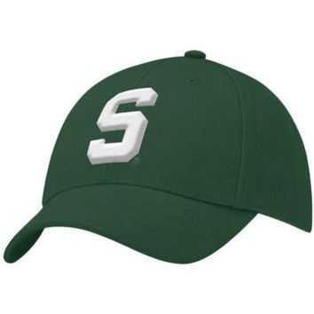 LMFON NCAA Nike Michigan State Spartans Youth Green Swoosh Flex Fit Hat