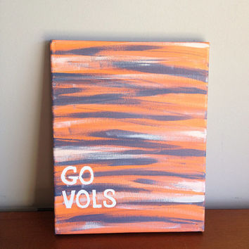 Canvas Quote Painting go vols 8x10 by heathersm87 on Etsy