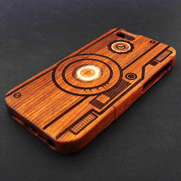 Camera C5 Mahogany Wood iPhone 5s Case - Real Wood iPhone 5 Case - Custom iPhone 5s Case Wood - Wooden iPhone 5 Case - Christmas Gift