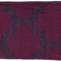 Trellis Modern Woven Throw - Purple