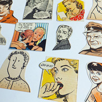 People cut outs, People scrap pack, Kids scraps, 28 pieces, Paper ephemera pack, collage paper pack, snail mail kit