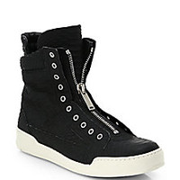 DSQUARED - Stampa Embossed-Leather High-Top Sneakers - Saks Fifth Avenue Mobile
