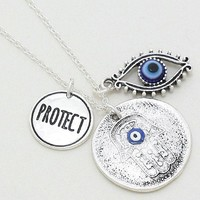 Protection Necklace Hamsa and Evil Eye