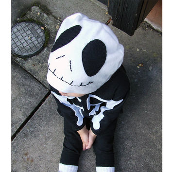 child halloween Nightmare Before Christmas skeleton costume baby toddler