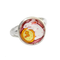White Rabbit Lover Gift - Adjustable Ring - Twisted Pixies