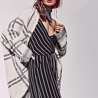 Free People Womens Window Pane Check Jacket