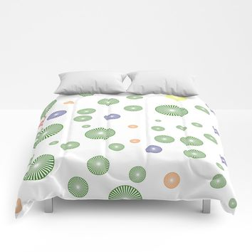 colorful circles Comforters by netzauge