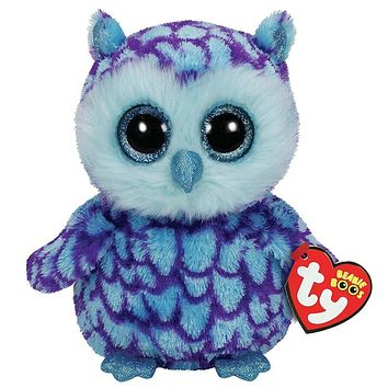 "Pyoopeo Ty Beanie Boos 6"" 15cm Oscar the Owl Plush Regular Stuffed Animal Collectible Soft Plush Doll Toy"