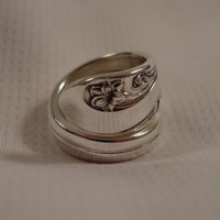 A Spoon Rings Plus Gorgeous Wrapped Spoon Ring Size 7 1/2 Vintage Spoon Jewelry t214