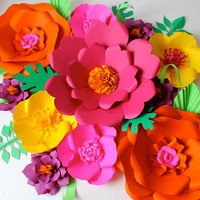 Extra large Paper Flower Backdrop  - Custom Colours