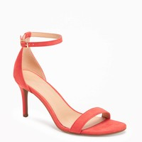 Sueded Single-Strap Heels for Women | Old Navy