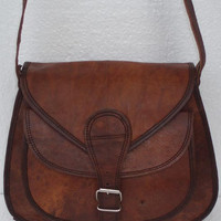 Leather Purse Gypsy Style Small Handbag Leather Satchel - leather bag