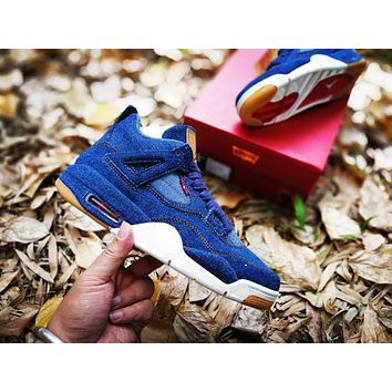 Levis X Air Jordan 4 Blue Sport Shoe | Best Deal Online