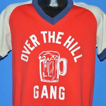 80s Over The Hill Gang Beer Mug Jersey t-shirt Large