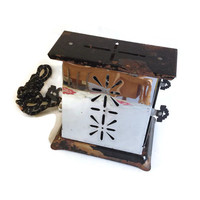 Antique Electric Toaster, 1930's, Working Toaster, Chrome and Black, Deco Style Hardware, Shabby Chic, Chippy, Vintage Kitchen