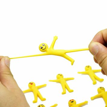 10PCS Kids birthday party favor emoji puppet can pull body baby shower gift souvenir pinata fillers baptism gift