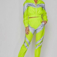Neon Glow Two Piece Track Suit Set- BOTTOM ONLY