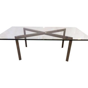 Pre-owned MIlo Baughman Style X-Base Coffee Table