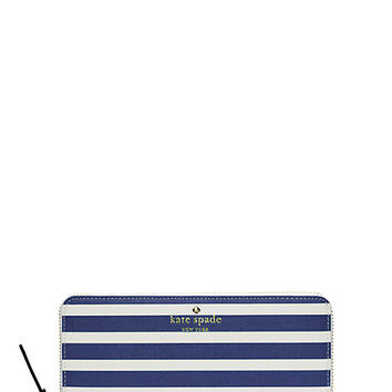 Kate Spade Fairmount Square Lacey Hyacinth Blue/Cream ONE