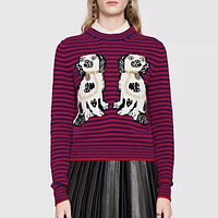 Gucci HOT SALE Embroidery long sleeve sweater
