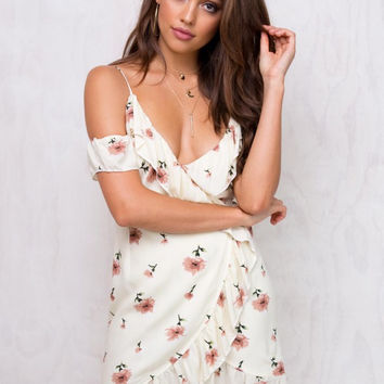 Floral Strapless One Piece Dress [11545494159]