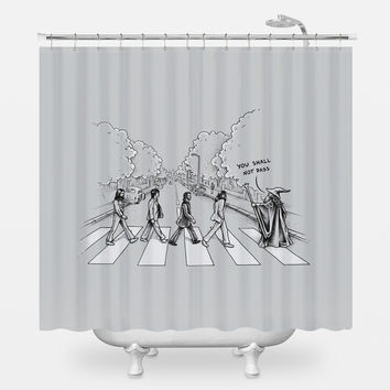 Here Comes the Wizard Shower Curtain