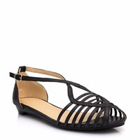 Crossing The Lines Metallic Sandals - GoJane.com