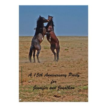 15th Anniversary Party Invitation Dancing Horses