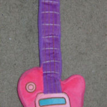 "27"" Rock Princess Guitar Pillow Pink Purple Plush Soft Toy Girl Room Decor Soft"
