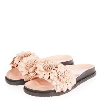 HEATHER Flower Footbed Sandals