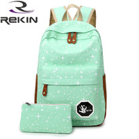 2016 Fashion Women Canvas Backpack School Bag Printing Backpack For Teenage Girls Mochila Ladies Casual Travel Rucksack
