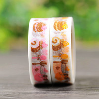 DIY Cute Cartoon Kawaii Japanese Washi Tape Creative Coffee Adhesive Tapes For Home Decoration Free Shipping 166