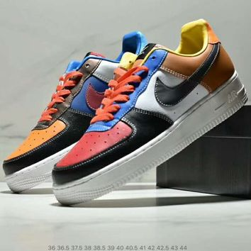 NIKE AIR FORCE limited edition color matching trend wild low to help sports shoes