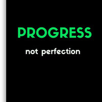 'PROGRESS NOT PERFECTION' Canvas Print by IdeasForArtists