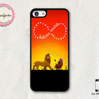 Lion Hakuna Matata iPhone 5C Case, iPhone Case, iPhone Hard Case, iPhone 5C Cover