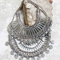 Great Escape Statement Necklace- Silver One