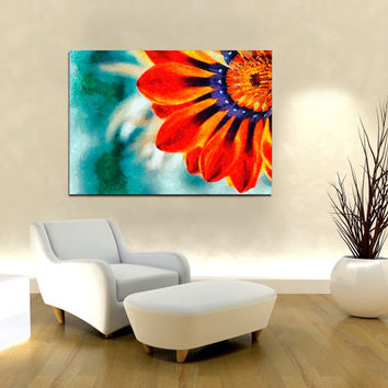 "Canvas Print Artwork Stretched Gallery Wrapped Wall Art Painting Modern Flower Nature Large Size 28x37"" (can2a)"
