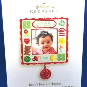 2008 Baby's First Christmas Hallmark Picture Retired Ornament