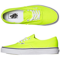 VANS AUTHENTIC SHOE - NEON YELLOW TRUE WHITE