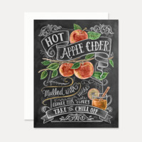 Hot Apple Cider Recipe - A2 Note Card